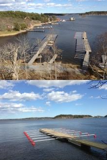 Bilder på båtplatserna efter vårstädningen
